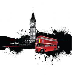 grunge london vector image vector image