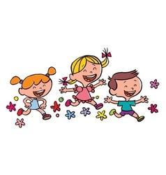 happy children running vector image