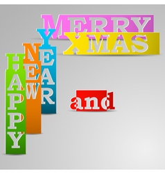 Happy New Year and Merry Xmas paper strips vector image vector image