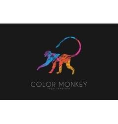 Monkey logo color monkey logo creative monkey vector
