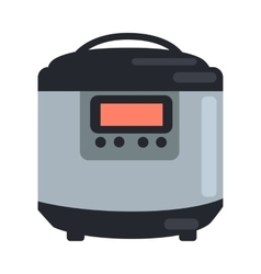 Slow cooking crock pot isolated on white steamer vector