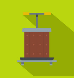 Wine press icon flat style vector