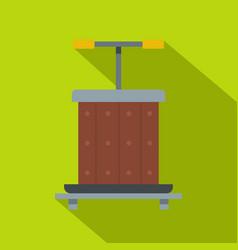 Wine press icon flat style vector