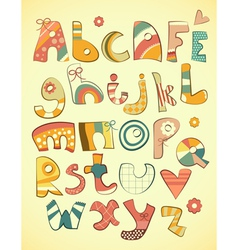 Alphabet design vector