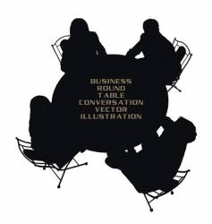 business round table vector image vector image