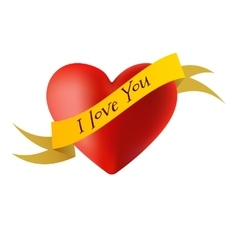Decorations in the form of hearts with the words I vector image vector image