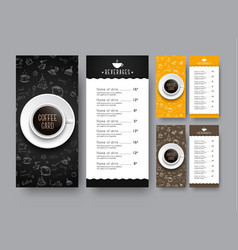 design of a narrow menu for a cafe or restaurant vector image