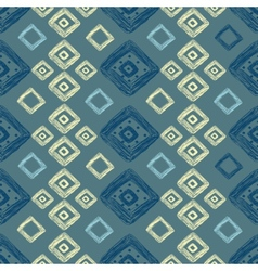 hand drawn geometric pattern vector image vector image
