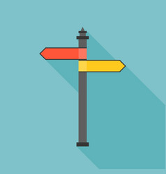 sign post icon with long shadow vector image