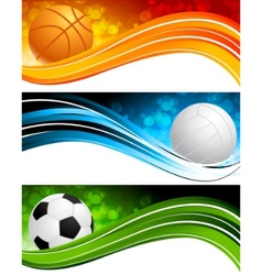 sports banners vector image
