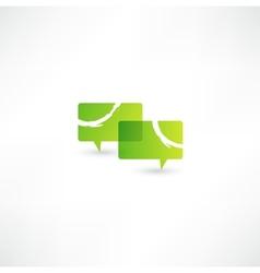 Talk concept speech bubbles icon vector image vector image