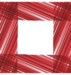 Abstract frame Red stripes design vector image vector image