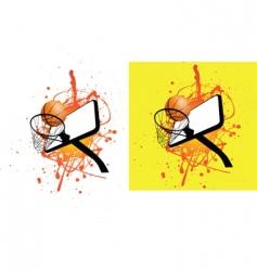 basketball hoop splat vector image vector image