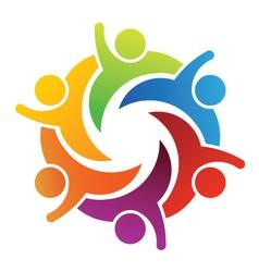 Teamwork Six people vector image vector image