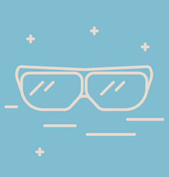thin line icon of protective glasses chemical vector image
