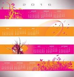 2016 calendar grunge banners vector