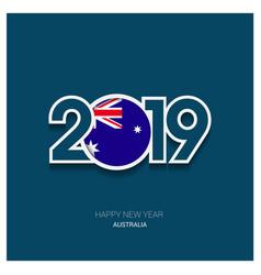 2019 australia typography happy new year vector