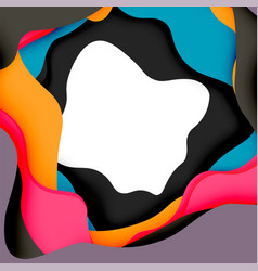 3d abstract background with cut shapes vector