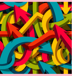 abstract seamless arrows background motley 3d vector image