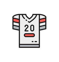 american football uniform t-shirt flat vector image