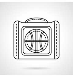 Bag for basketball flat line icon vector