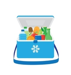 Bag refrigerator icon Cooler symbol vector
