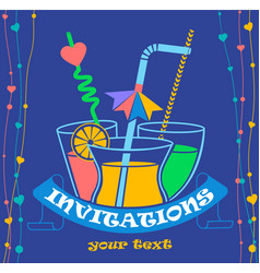 Banner party invitation vector