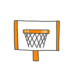 basketball rim isolated on vector image