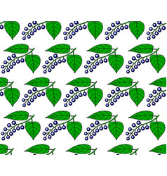 Bird cherry pattern vector