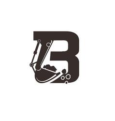 Build excavator construction logo designs simple vector
