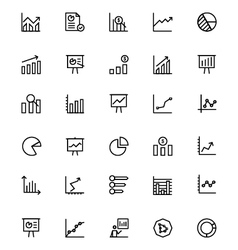 Business Charts Line Icons 1 vector