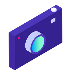 camera with lens and button device photocamera vector image