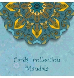 Card design with mandala pattern vector image