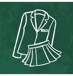 Chalk icon school wear vector