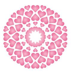 colored circular round loving cute mandala vector image