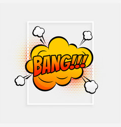 comic speech bubble with expression text bank vector image