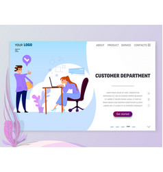 concept customer service department for website vector image
