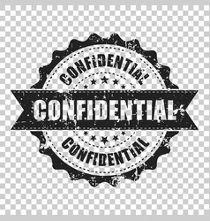 confidential scratch grunge rubber stamp on vector image