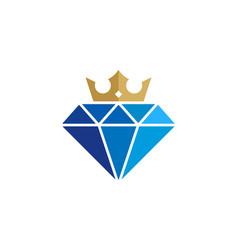 Crown diamond logo icon design vector