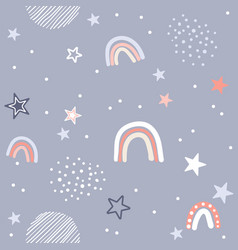 cute seamless pattern in vector image