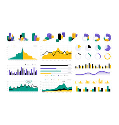 data infographic statistic charts graphic vector image