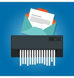 Delete remove spam email trash message paper vector