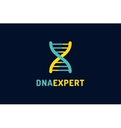 Dna logo technology biology icon vector