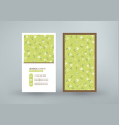Double-sided vertical business card template vector