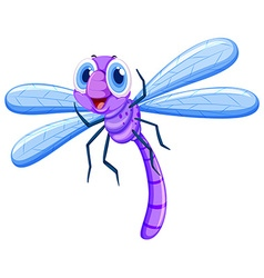 Dragonfly in purple color vector image