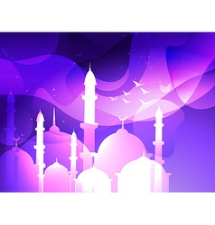 eid festival background vector image