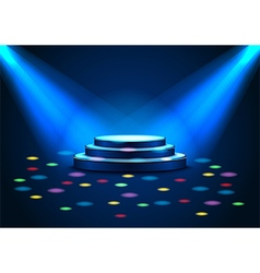 Empty stage with spotlights on stage vector image