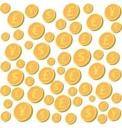 Falling coins vector image