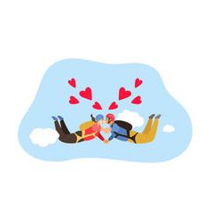 Free fall kiss vector