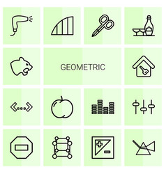 geometric icons vector image